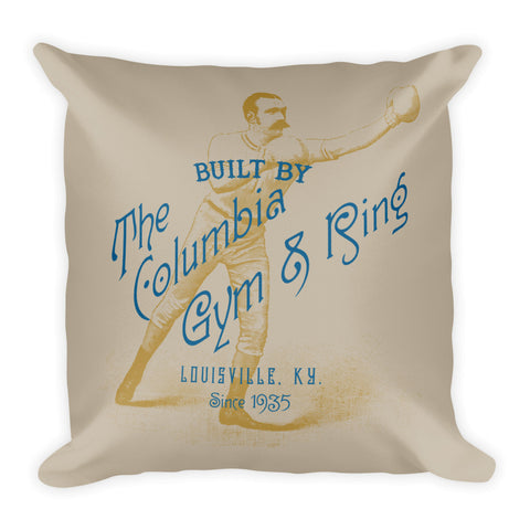 COLUMBIA GYM & CASSIUS CLAY Square Pillow
