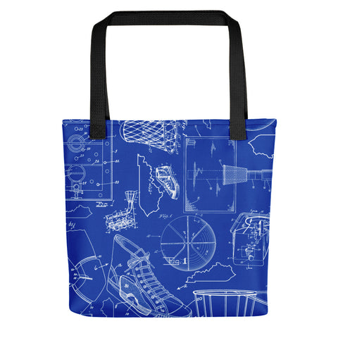 KENTUCKY BASKETBALL PATENTS (BLUE 2) Tote bag