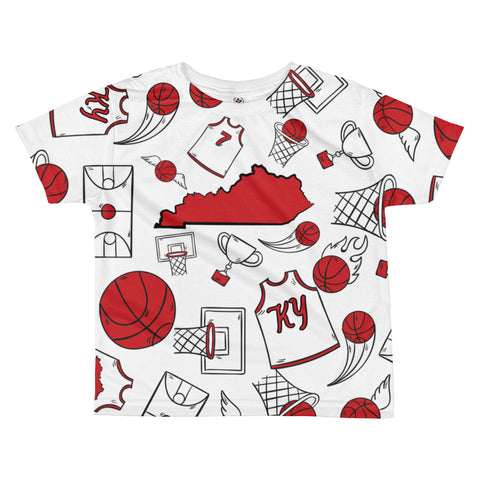 KENTUCKY BASKETBALL ICONS - RED All-over kids sublimation T-shirt