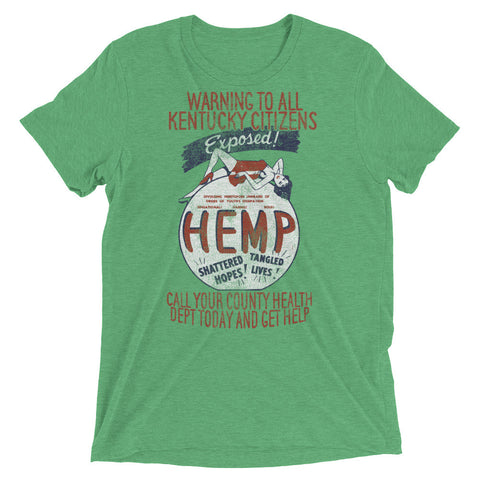 VINTAGE HEMP POSTER Short sleeve t-shirt