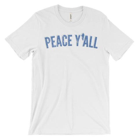PEACE Y'ALL RETRO 2 Unisex short sleeve t-shirt
