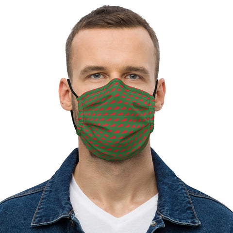 Red on Green Kentucky Premium face mask