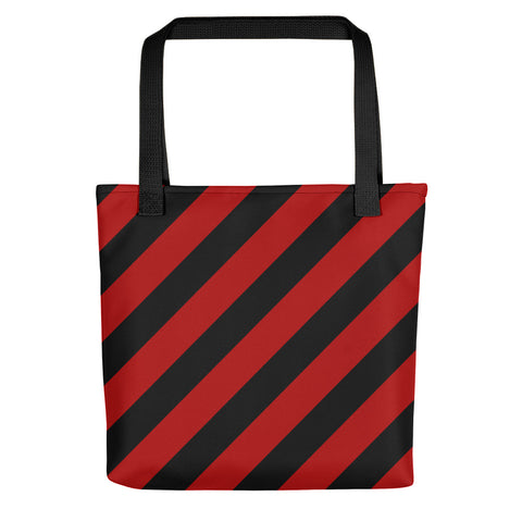 TEAM STRIPES RED & BLACK Tote bag