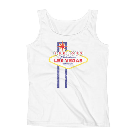 LEX VEGAS (distressed) Ladies' Tank
