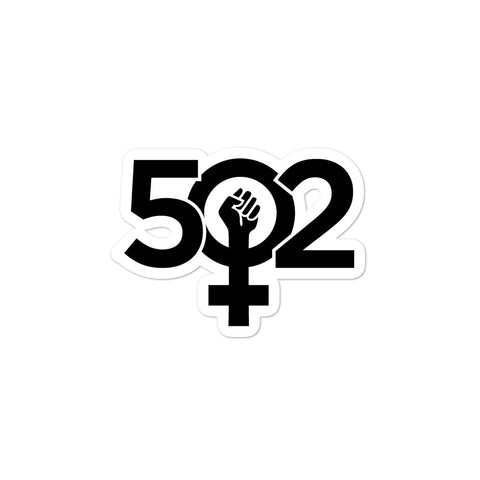 502 Girl Power Bubble-free stickers