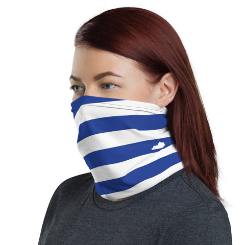 TEAM ANDY Blue and White with small Kentucky state Neck Gaiter