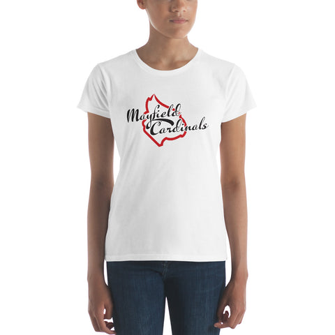 Mayfield Cardinals Script Women's short sleeve t-shirt
