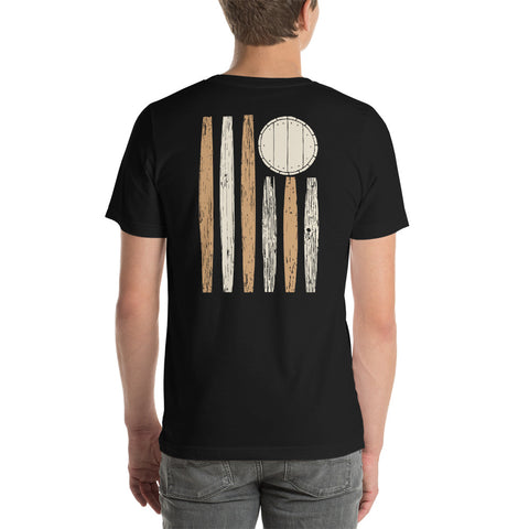 Bourbon Barrel Stave Flag Short-Sleeve Unisex T-Shirt