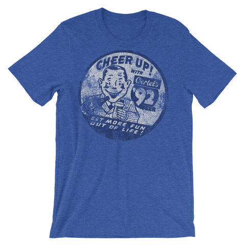 CHEER UP WITH OERTEL'S 92 Unisex short sleeve t-shirt