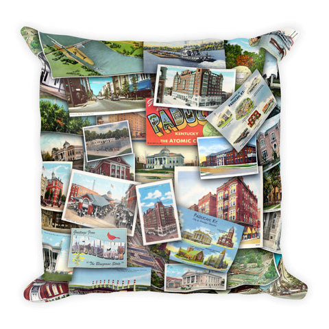PADUCAH VINTAGE POSTCARDS Square Pillow