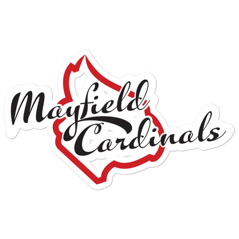 Mayfield Cardinals Bubble-free stickers