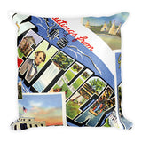 VINTAGE KENTUCKY POSTCARDS Square Pillow