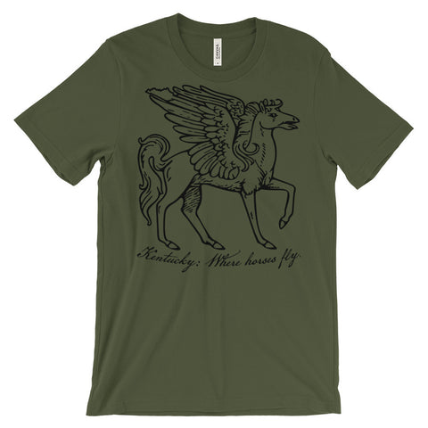 WHERE HORSES FLY Unisex short sleeve t-shirt