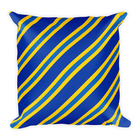 TEAM STRIPES BLUE AND GOLD Square Pillow
