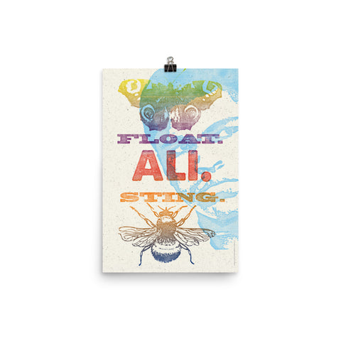 FLOAT. STING. ALI. PRINT Poster