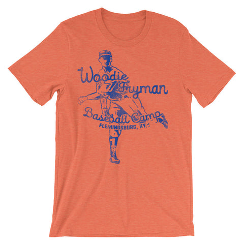 WOODIE FRYMAN BASEBALL CAMP Unisex short sleeve t-shirt