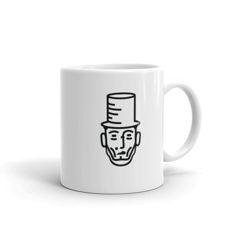 "ABE LINCOLN ""PUT YOUR FEET IN THE RIGHT PLACE"" QUOTE Mug"