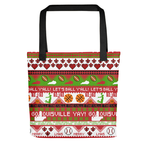 UGLY LOUISVILLE CHRISTMAS SWEATER Tote bag
