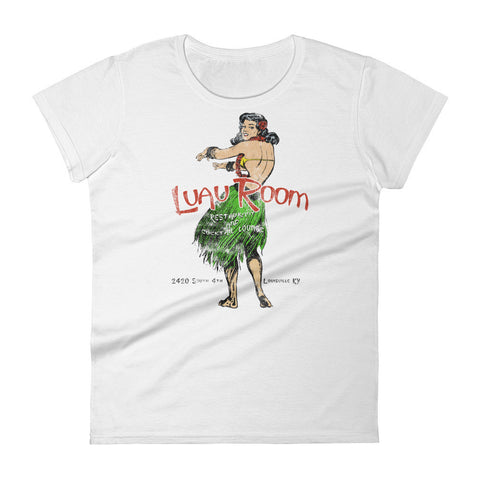 LUAU ROOM (distressed) Women's short sleeve t-shirt