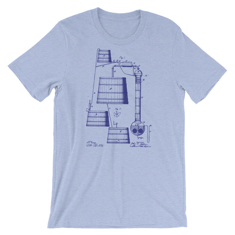 BOURBON DISTILLATION PATENT Short-Sleeve Unisex T-Shirt