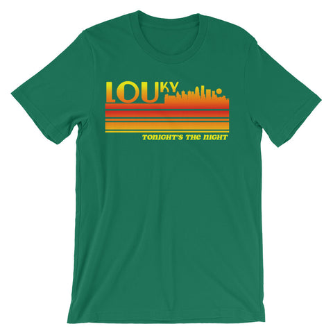 LOUISVILLE 80s - TONIGHT'S THE NIGHT Unisex short sleeve t-shirt