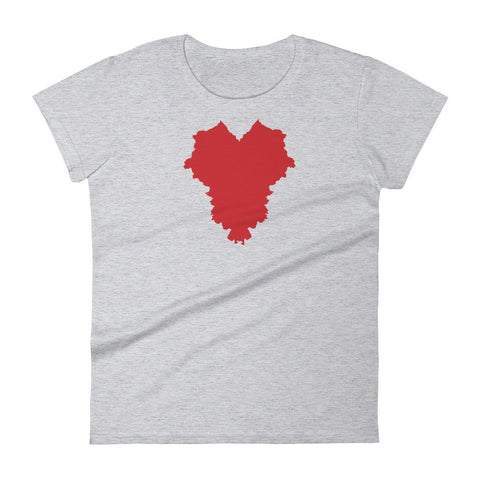 THE HEART OF AMERICA Women's short sleeve t-shirt