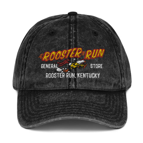 Rooster Run General Store Vintage Cotton Twill Cap