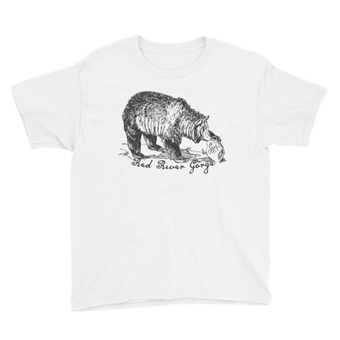RED RIVER GORGE WITH BEAR Youth Short Sleeve T-Shirt