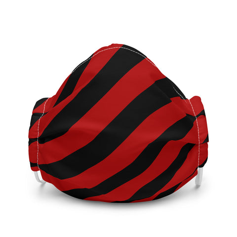 Red and Black Stripe Premium face mask