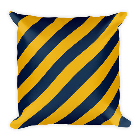 TEAM STRIPES NAVY & GOLD Square Pillow