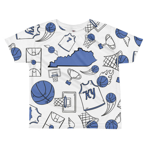 KENTUCKY BASKETBALL ICONS - BLUE All-over kids sublimation T-shirt