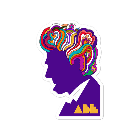 Abe Lincoln Pop Art Bubble-free stickers