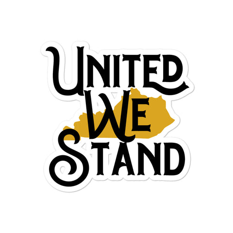 Kentucky United We Stand (Goldenrod) Bubble-free stickers