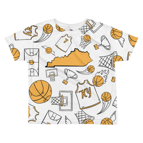 KENTUCKY BASKETBALL ICONS - YELLOW All-over kids sublimation T-shirt