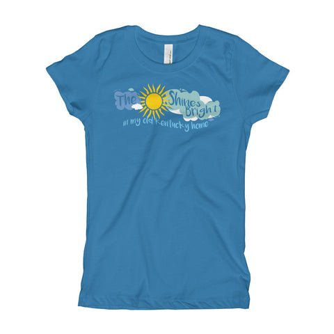 THE SUNSHINES BRIGHT (w/ clouds) Girl's T-Shirt