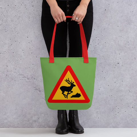 Rudolph the Red-nosed Reindeer Kentucky Christmas Traffic Sign Tote bag