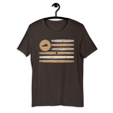 Bourbon Barrel Stave Short-Sleeve Unisex T-Shirt
