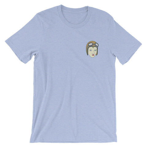 BOWMAN FIELD AIRPORT LOUISVILLE GOLDFINGER PUSSY GALORE (front + back print) Unisex short sleeve t-shirt