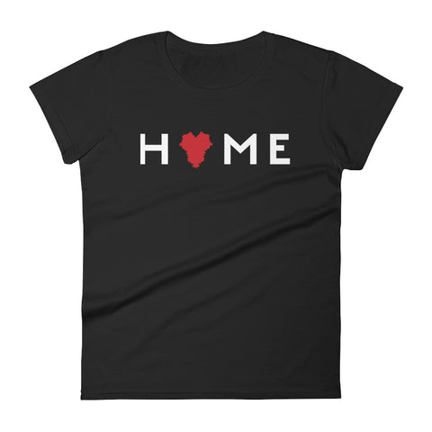 KENTUCKY IS MY HOME (red heart, white type) Women's short sleeve t-shirt