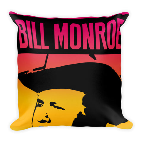 BILL MONROE BLUE MOON OF KENTUCKY POSTER Square Pillow