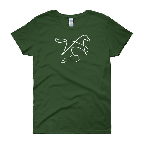 MINIMALIST HORSE AND KENTUCKY Women's short sleeve t-shirt