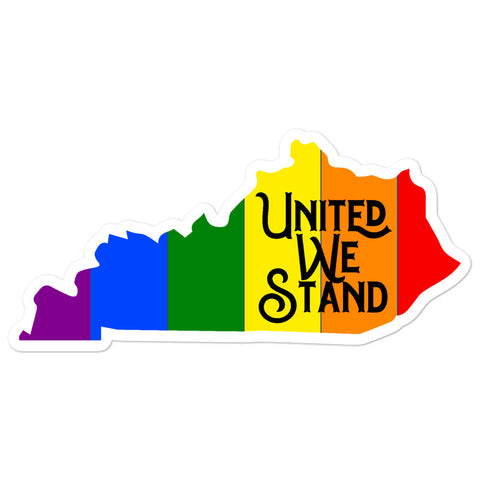 Kentucky Pride United We Stand Bubble-free stickers
