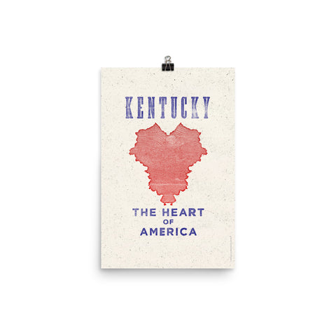 KENTUCKY THE HEART OF AMERICA PRINT Poster