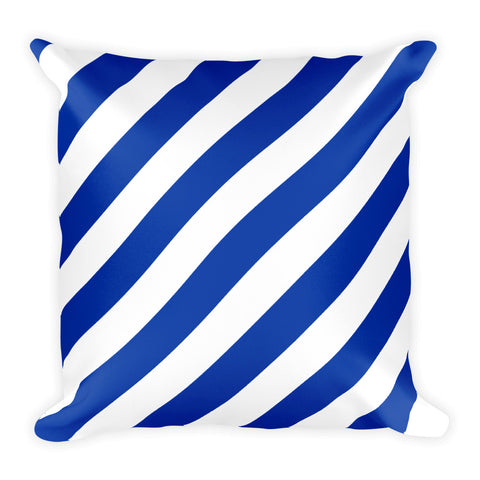 TEAM STRIPES BLUE & WHITE Square Pillow