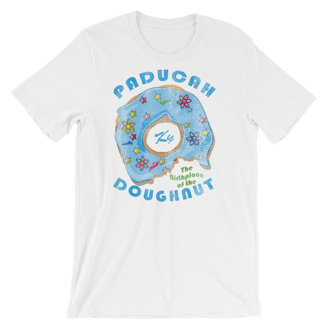 PADUCAH, BIRTHPLACE OF THE DOUGHNUT!! Unisex short sleeve t-shirt