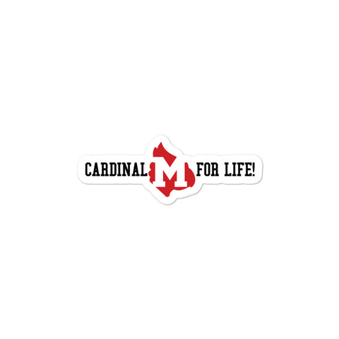 "Mayfield Cardinals ""Cardinal for Life"" Bubble-free stickers"