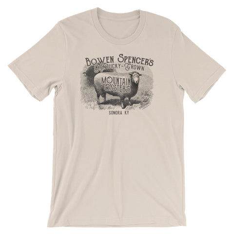 BOWEN SPENCER'S MOUNTAIN OYSTERS, SONORA Unisex short sleeve t-shirt