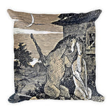 "Kentucky Vintage Horse Illustration ""Date Night"" Square Pillow"