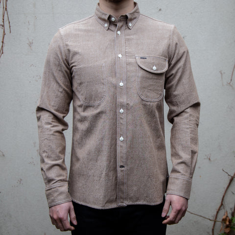 RGT-Jumper Shirt Long Sleeve// Brown Chambray
