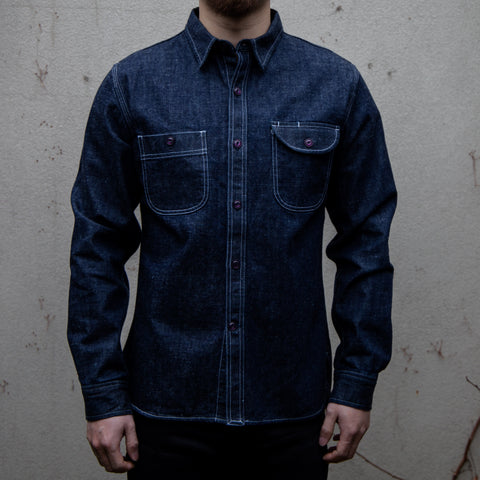 RGT-Work Shirt // Rinsed Neppy Denim
